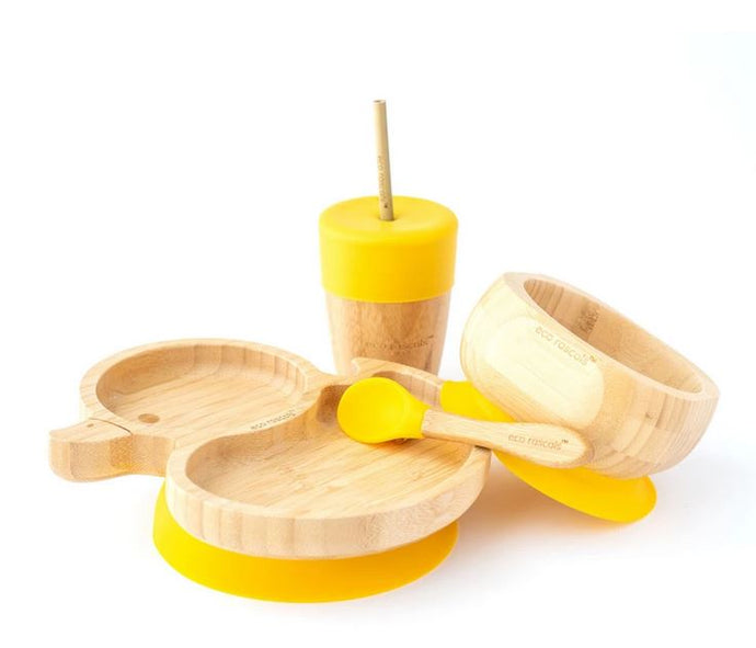 Bamboo Duck Set: Yellow