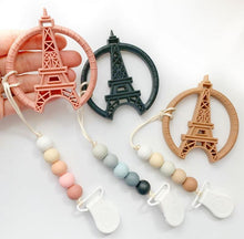 Load image into Gallery viewer, Clip & Teether: Eiffel Tower - Blush Pink