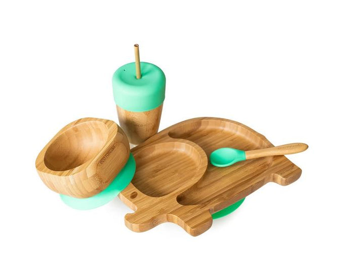 Bamboo Elephant Set: Green