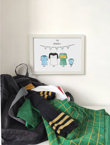 Personalised GAA Family Print - Framed