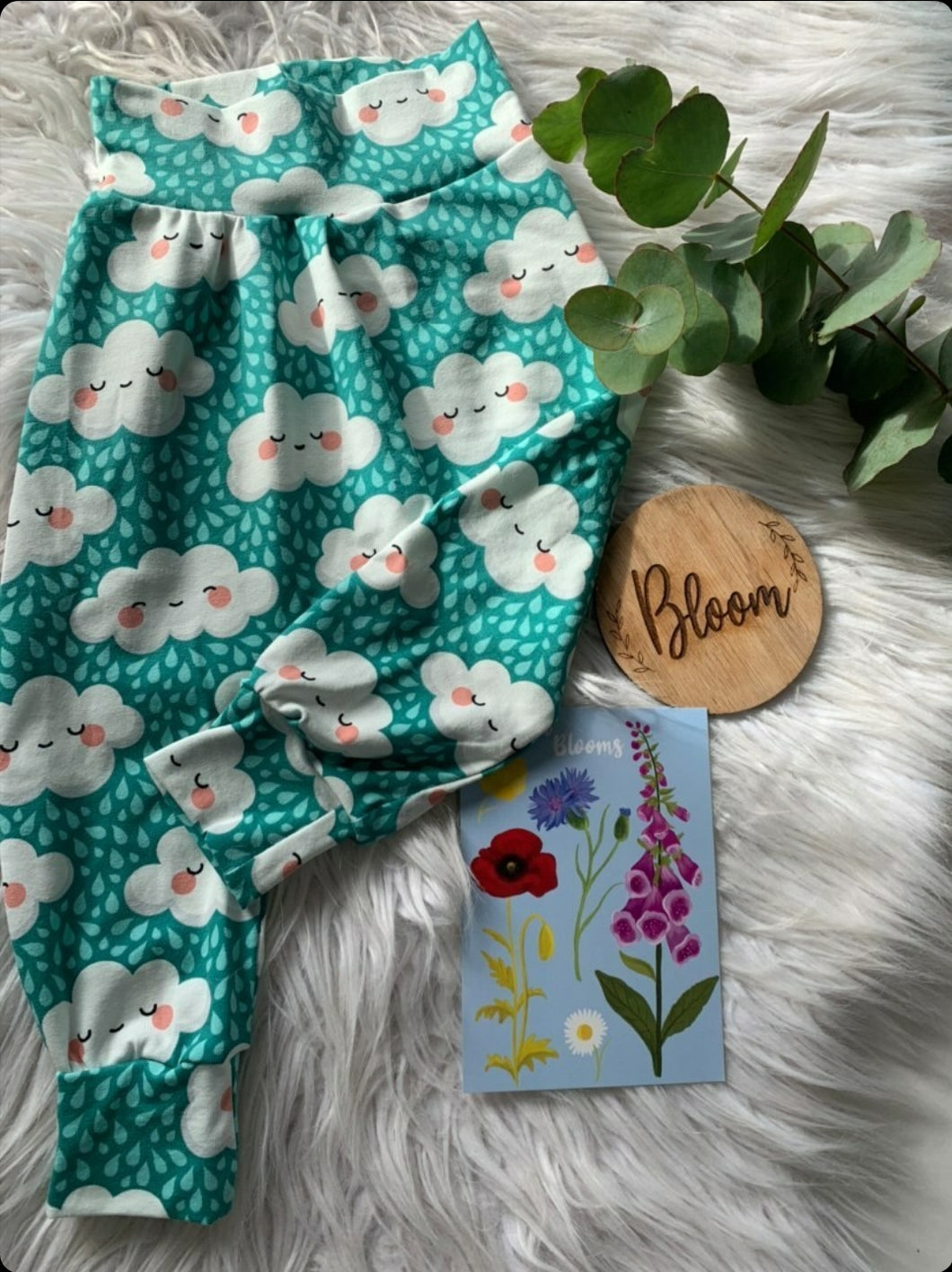 Mint Cloud Harem Trousers