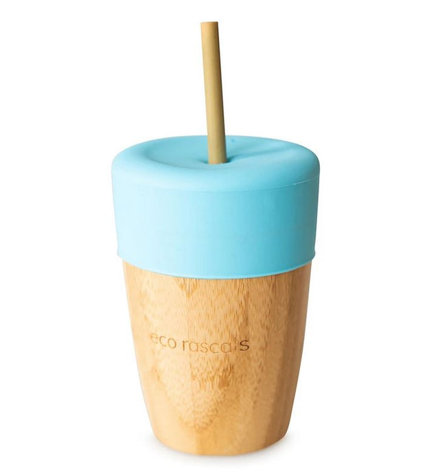 Big Cup, Topper & Straws: Blue