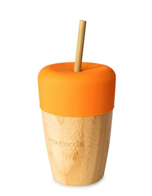Big Cup, Topper & Straws: Orange
