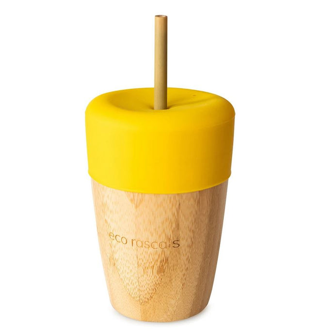 Big Cup, Topper & Straws: Yellow
