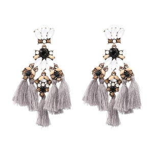 Luxxe Beaded Statement Earrings