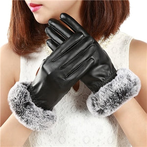 Thick Faux Fur Winter Gloves