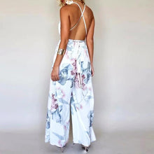 V-Neck Floral Jumpsuit - White