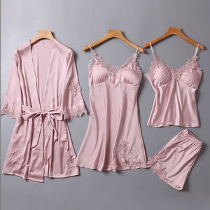 4pcs Set Women Nightwear