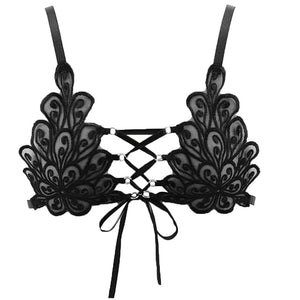 Lace Flower  Wireless Bra