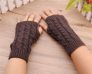 Knitted Winter Finger Gloves
