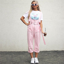 Ruffles Pink Jumpsuit with  Belt