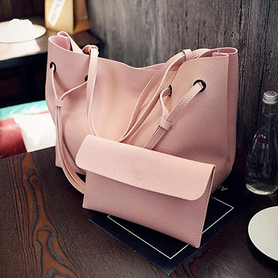 Soft Leather Women Bag Set