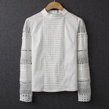 Hollow Out Long Sleeve Blouse