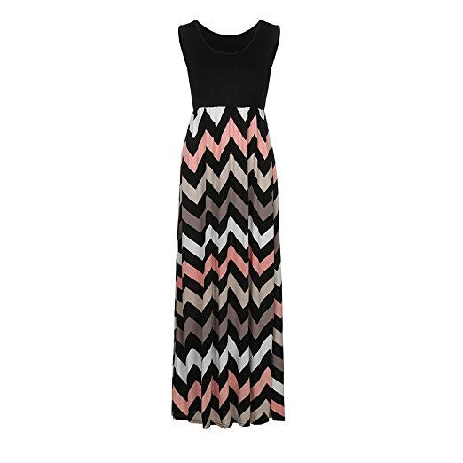 Maxi Dress With Stripes