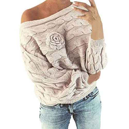 Slouchy Rose Knit Sweater