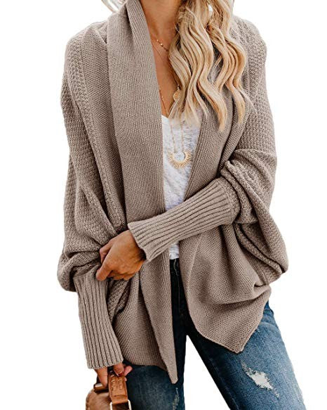 Bat Wing Sleeve Open Cardigan