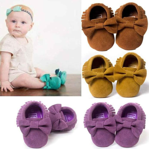 Baby Tassel Bowknot Shoes