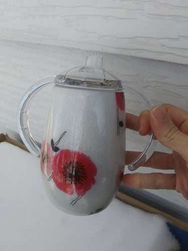 Flower sippy cup/tumbler