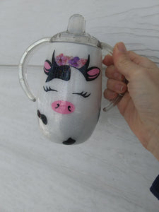 Cow Sippy Cup Tumbler