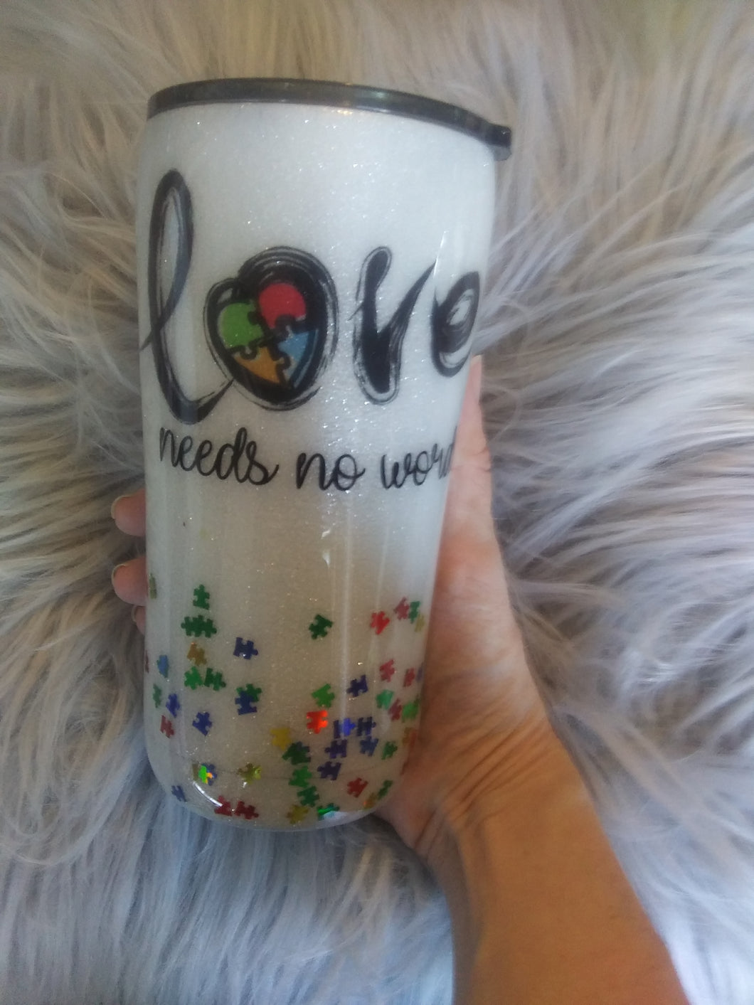 Love needs no words tumbler