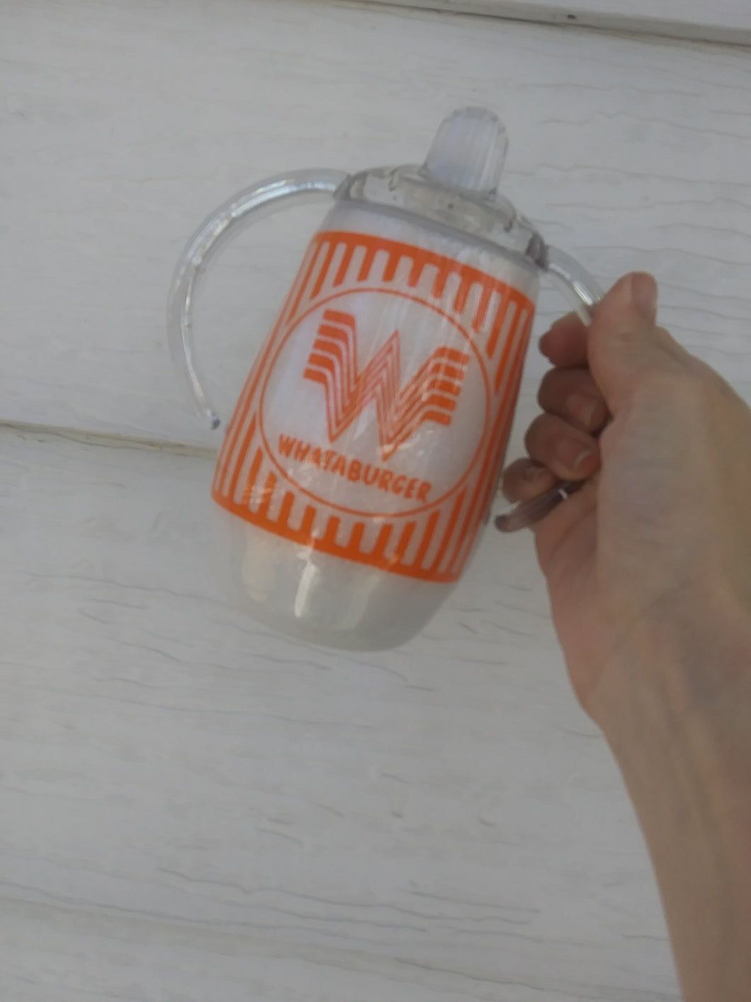 Whataburger Inspired Sippy Tumbler