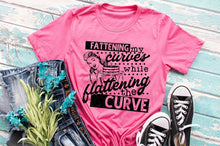 Load image into Gallery viewer, Flattening My Curves Tee
