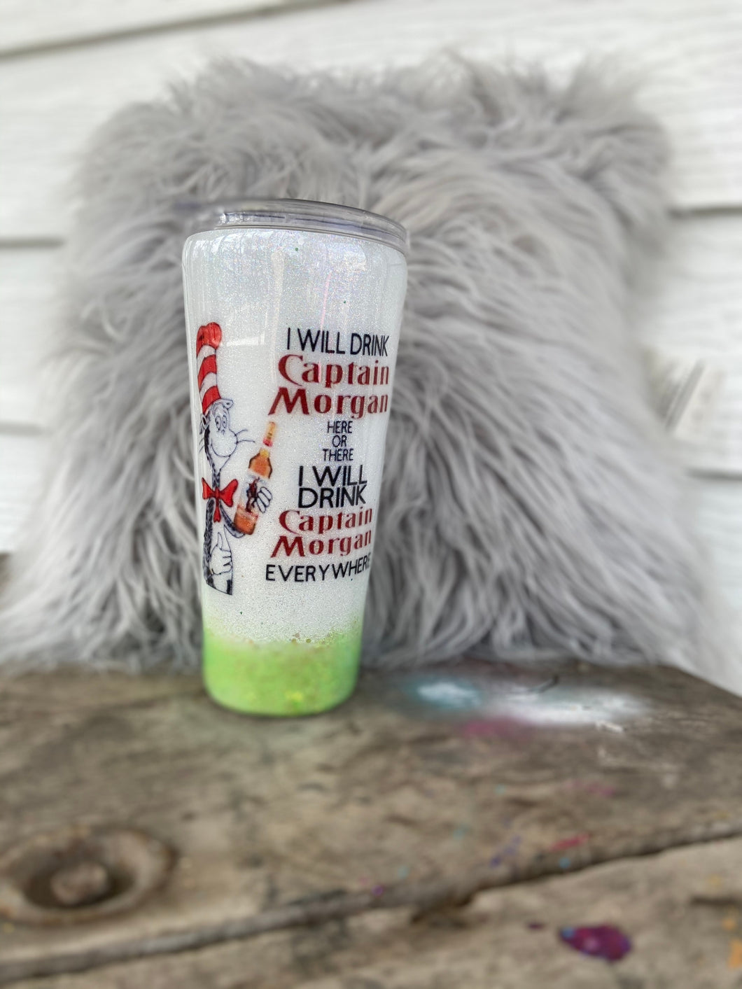 Dr. Seuss Inspired Captain Morgan Tumbler