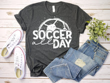 Load image into Gallery viewer, Soccer All Day Tee