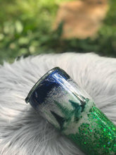 Load image into Gallery viewer, Tree tumbler, Happy trees, Forest cup, Personalized Glitter Tumbler, Monogram Tumbler, Glitter Cup, Glitter Tumbler, Glitter Stainless steel
