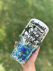 Mermaid Kisses Starfish Wishes Tumbler