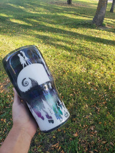 Nightmare before christmas coffee cup, Personalized Glitter Tumbler, Monogram Tumbler, Glitter Cup, Glitter Tumbler, Glitter Stainless steel