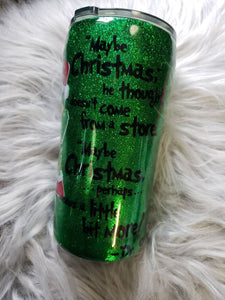 Grinch Personalized Glitter Tumbler, suess tumbler Monogram Tumbler, Glitter Cup, Glitter Tumbler, Glitter Stainless steel