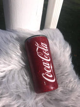 Load image into Gallery viewer, Coca cola Personalized Glitter Tumbler