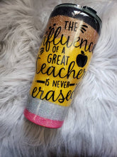 Load image into Gallery viewer, Pencil tumbler, teacher gift tumbler Personalized Glitter Tumbler, Monogram Tumbler, Glitter Cup, Glitter Tumbler, Glitter Stainless steel