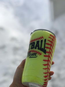 Softball Mom Tumbler