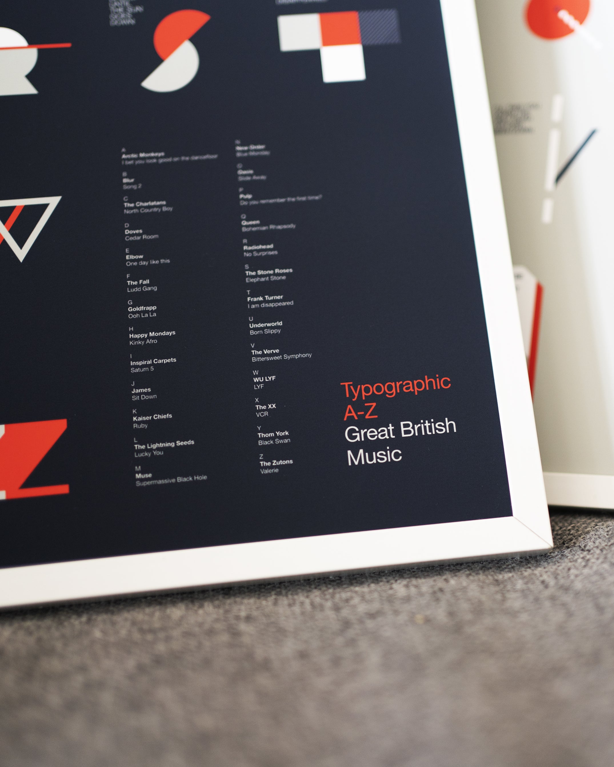Great British Music A-Z Print