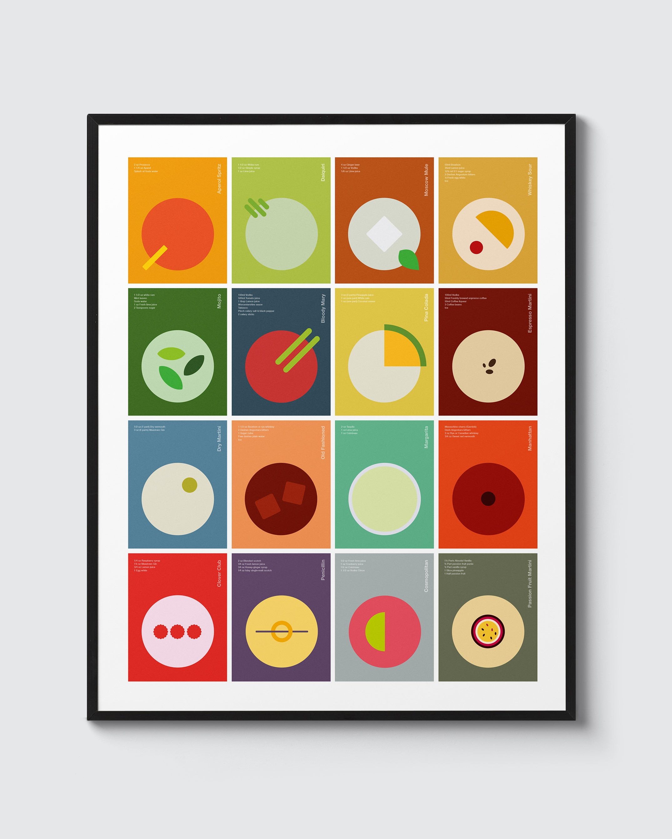 Abstract cocktails – compilation print