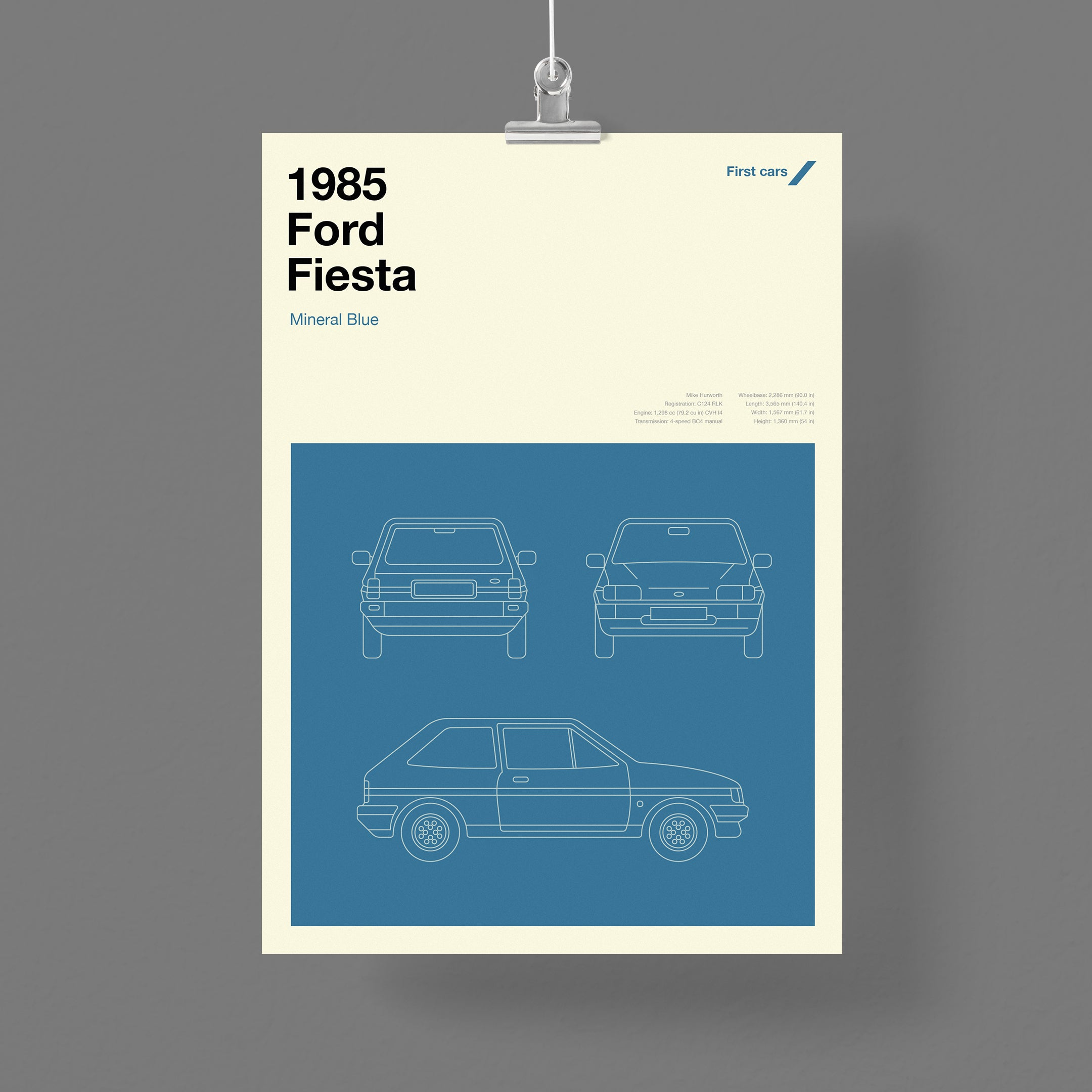First cars – personalised print