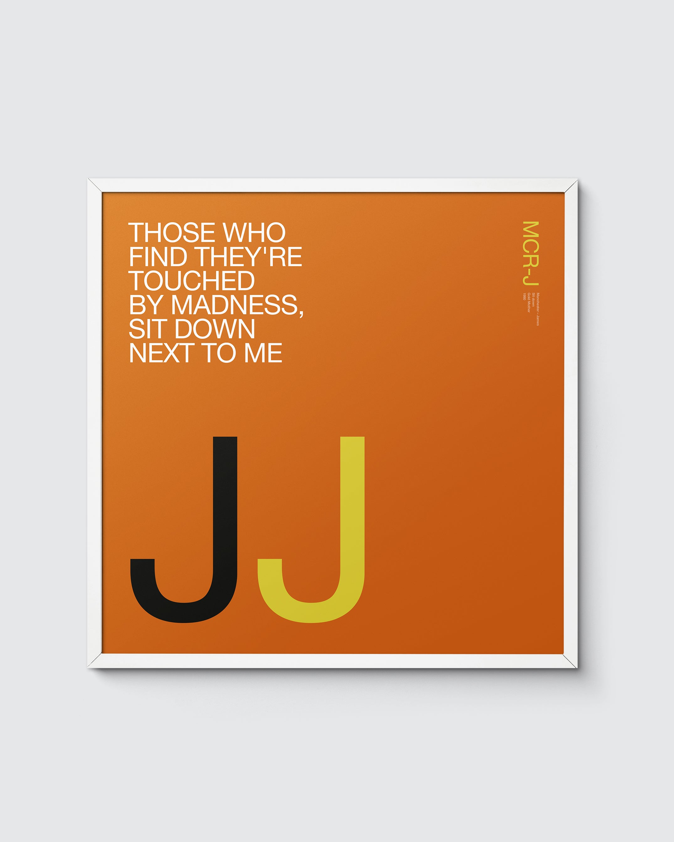 MCR Music 'J is for James' print – Sit down