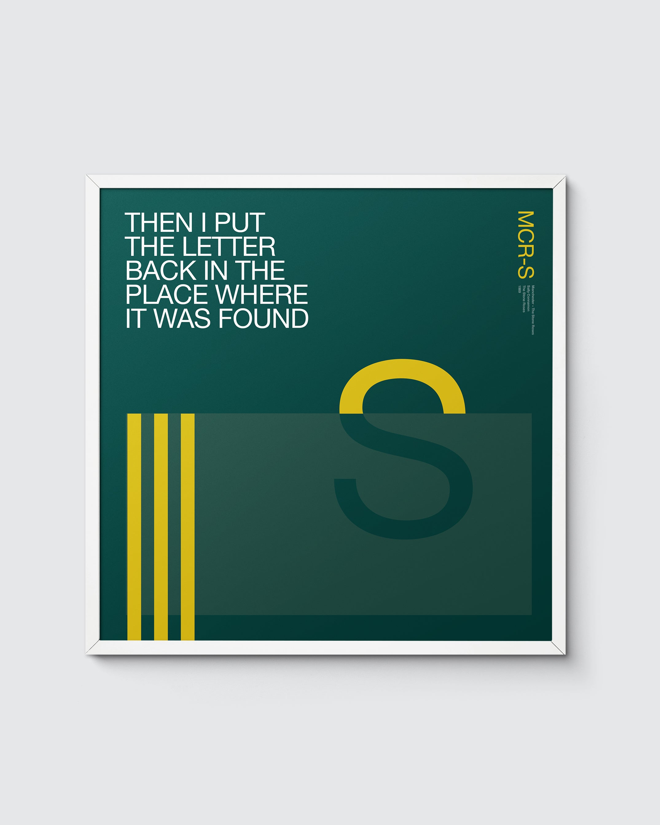 MCR Music 'S' is for The Stone Roses print – Sally Cinnamon