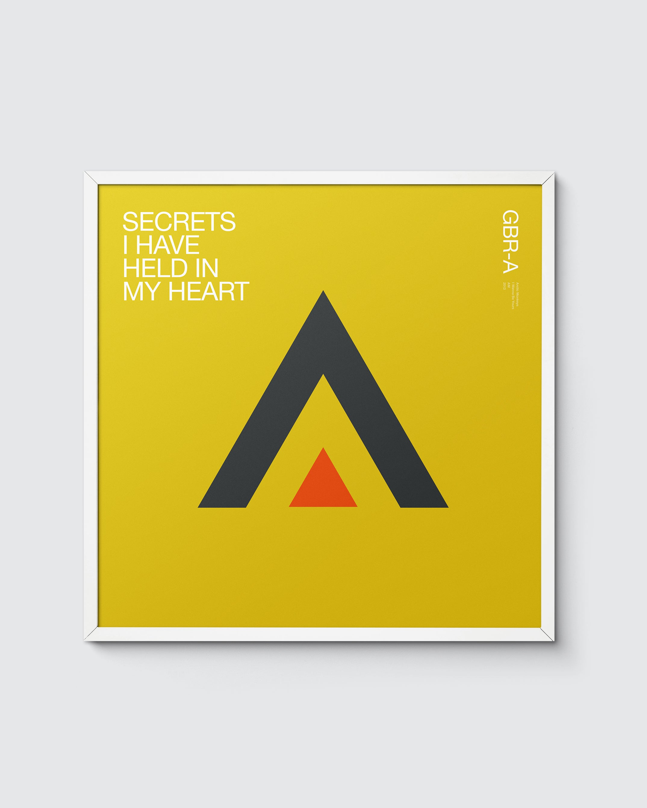 GBR Music 'A' is for Arctic Monkeys – I wanna be yours print
