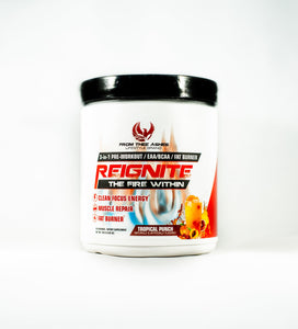 Reignite 3-in-1 Pre-Workout, EAA/BCAA, Fat Burner