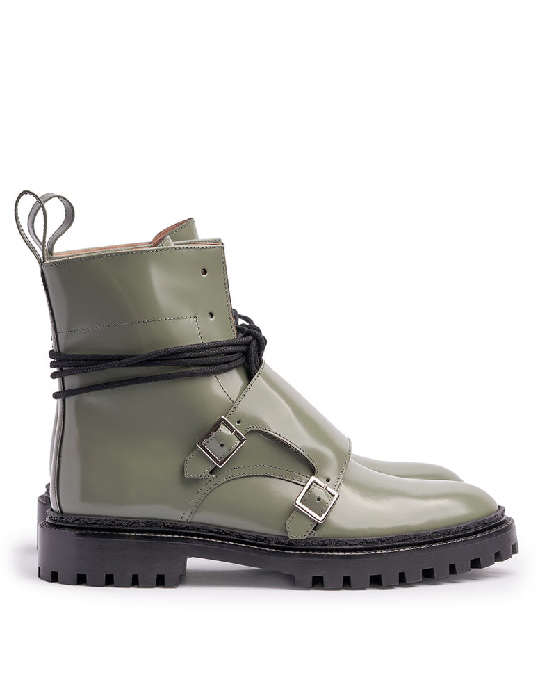 Pale Green Monk Boots