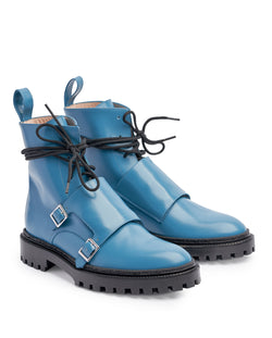 Steel Blue Monk Boots