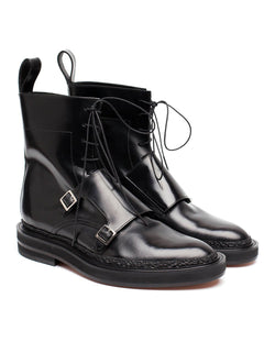 Lace-up Monk Boots