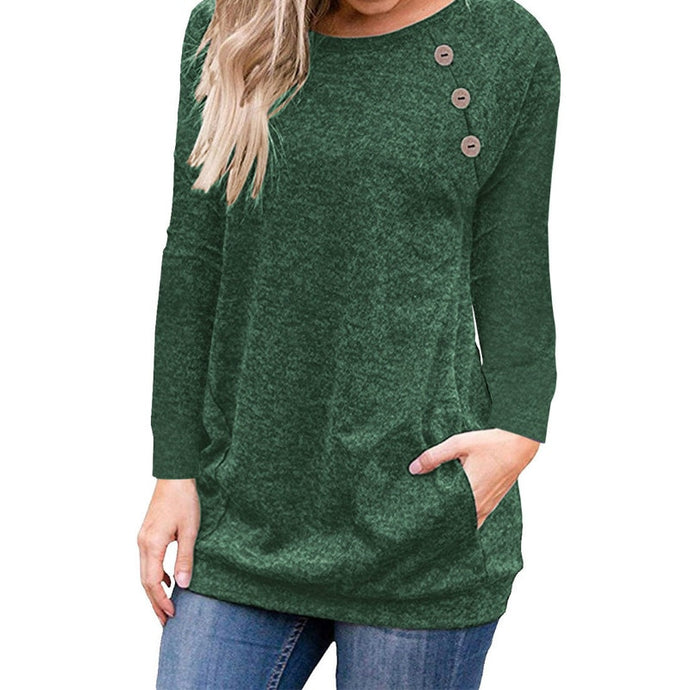 Aurora's Long Sleeve Shirt with Button Accents