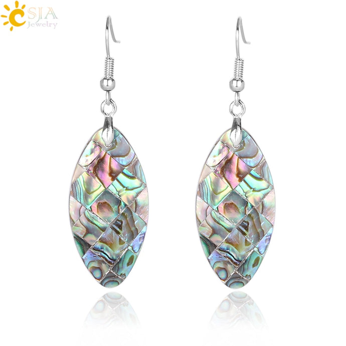 Andrea's Abalone Dangle Earrings