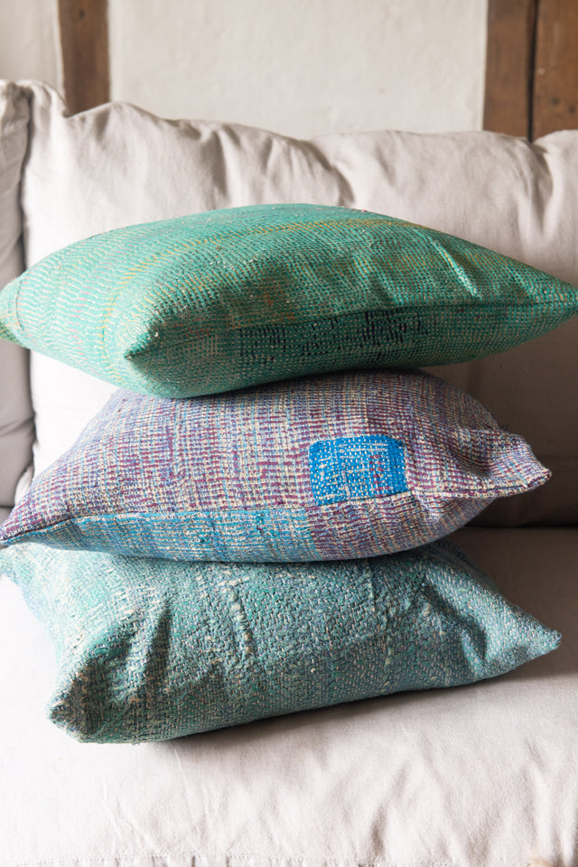 *NEW ARRIVALS* Vintage Kantha Cushions (square)