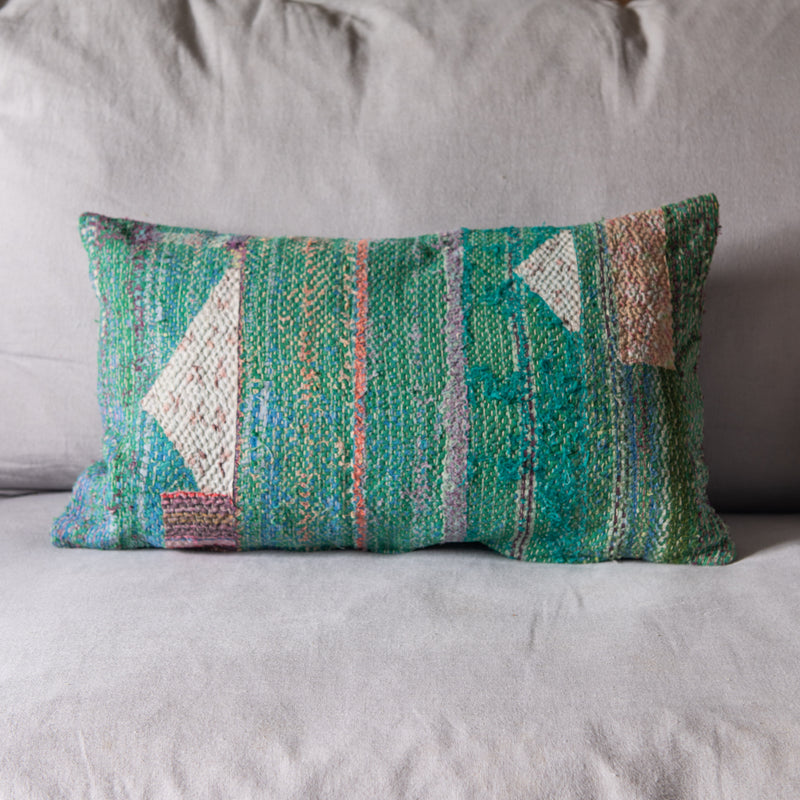 *NEW ARRIVALS* Vintage Kantha Cushion  (small rectangle)