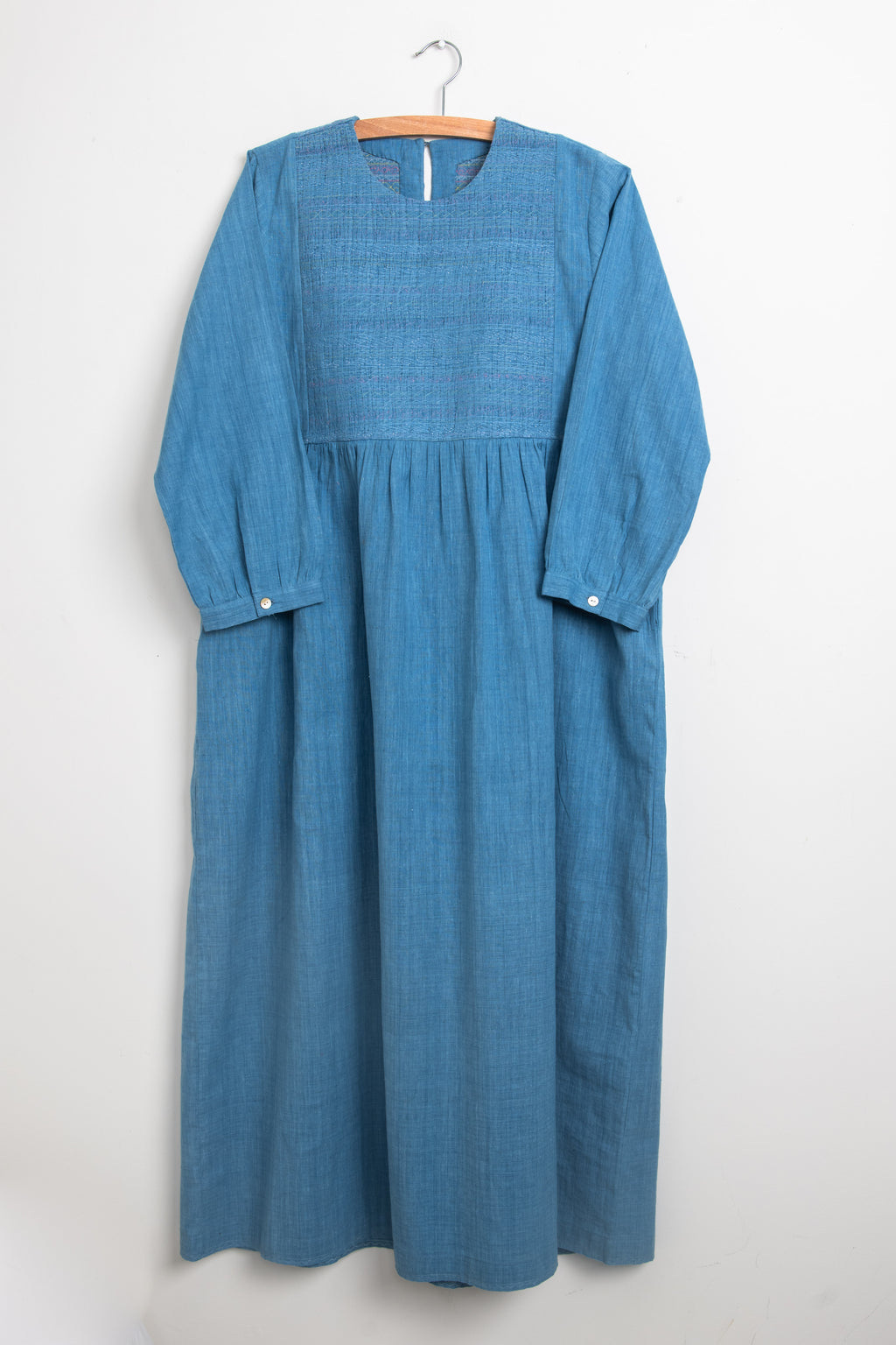 Smocking detail khadi dress